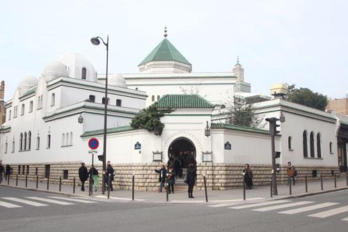 La Grande Mosquée de Paris - L'entrée du restaurant et du hammam