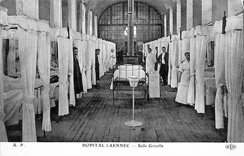 L'hôpital Laennec - Carte postale ancienne