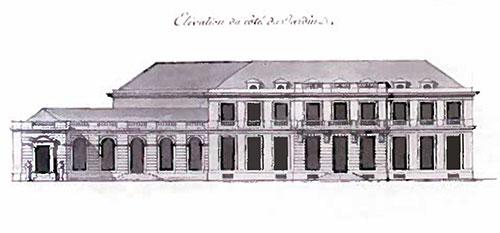 L'hôtel Grimod de la Reynière - Elevation côté jardin