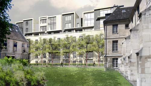 L'hôpital Laennec – Nouveaux immeubles d'habitation