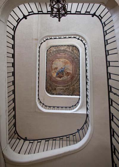 L'escalier d'honneur - La fresque de Giovanni Gherardini