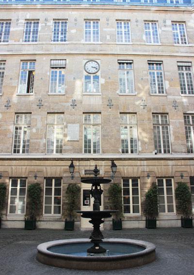 Le Mont-de-Piété - La cour intérieure du 2e bâtiment, rue des Francs-Bourgeois