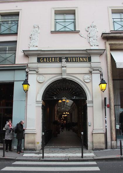 La galerie Vivienne - Entrée rue Vivienne