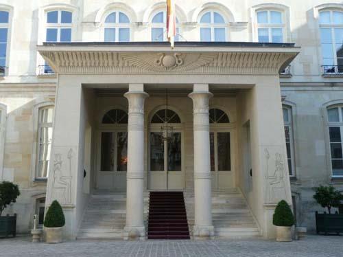 L'hôtel de Beauharnais - Le portique égyptien