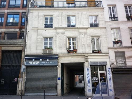 Maison habitée par François Bélanger puis par Marie-François Aynard, 19 rue du faubourg Poissonnière