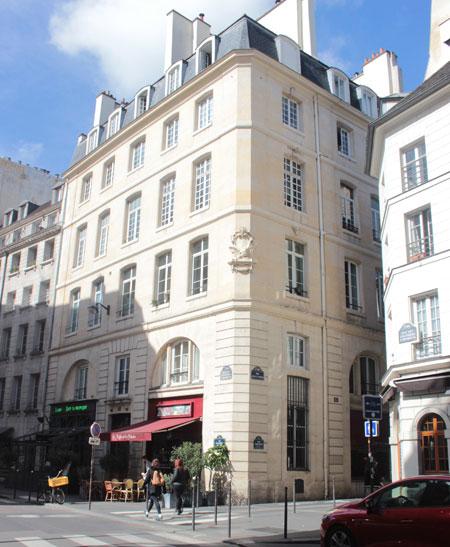 La confrérie des orfèvres - façade sur la rue des Lavandières-sainte-Opportune