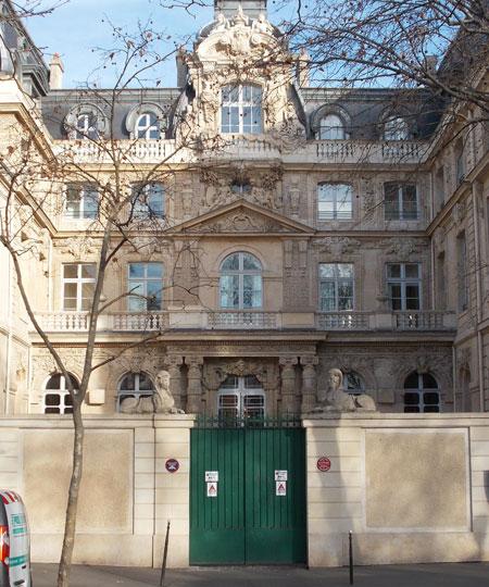 L'hôtel Fieubet - La façade sur cour