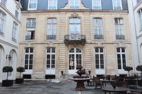 L'hôtel de Boullogne - Façade sur cour