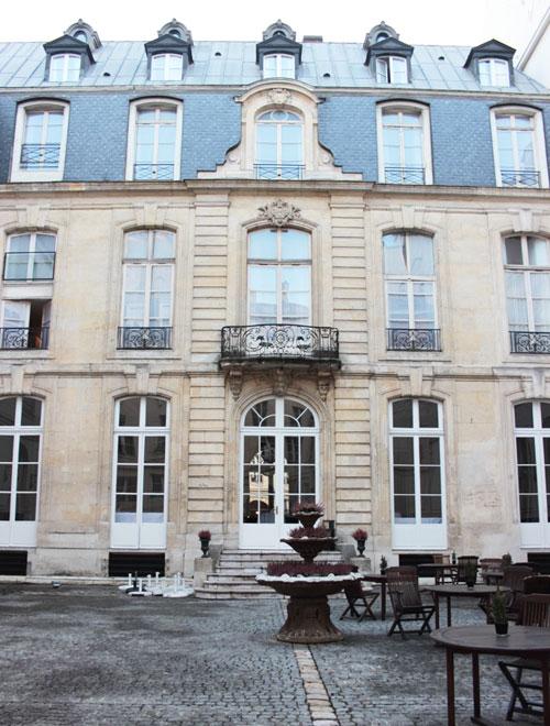 L'hôtel de Boullogne : la façade sur cour