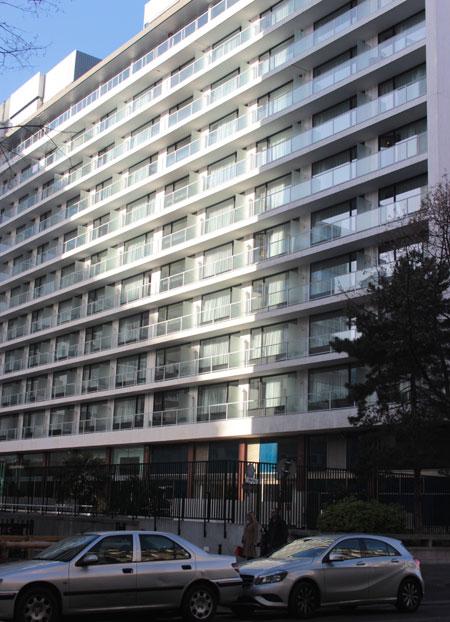 L'ancien hôtel Hilton - Façade arrière