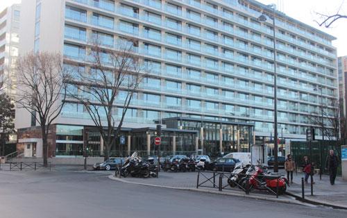 L'ancien hôtel Hilton - Façade sur rue