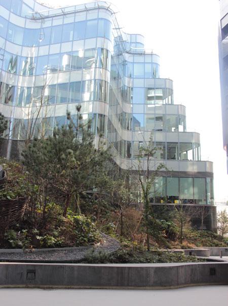Immeuble T8 - Façades sur le jardin intérieur