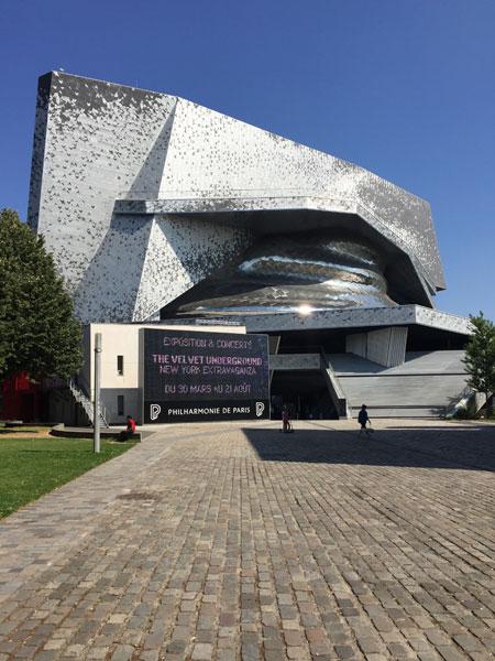 La Philharmonie - L'entrée donnant sur la parc de la Villette