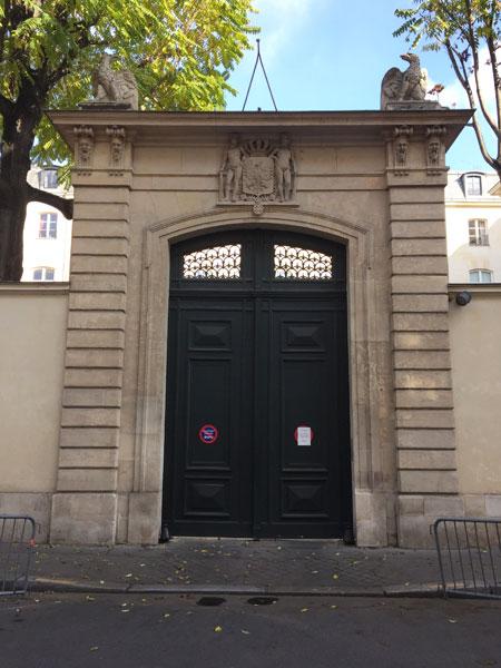 L'hôtel de Beauharnais - Le portail