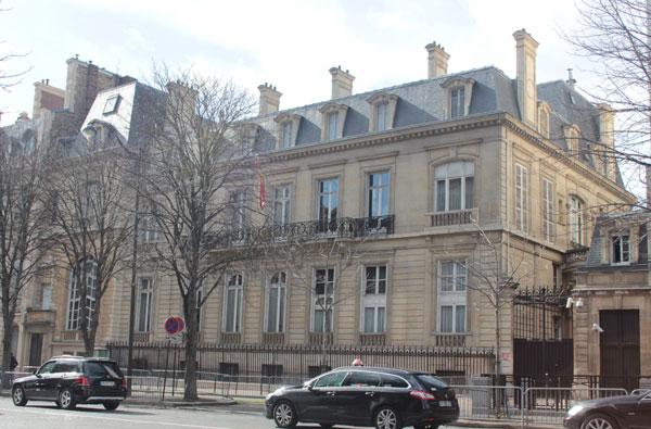 L'ambassade d'espagne : façade sur rue