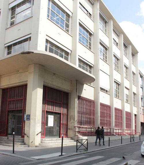 Le central des Chèques Postaux - Façade rue d'Alleray
