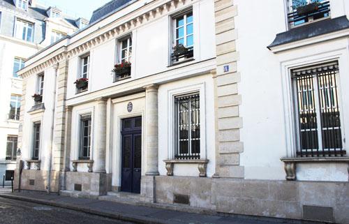 L'hôtel de Melle Mars - façade sur rue