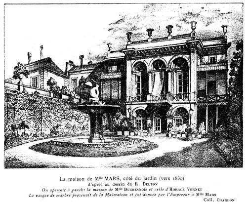 L'hôtel de Melle Mars - Façade sur jardin