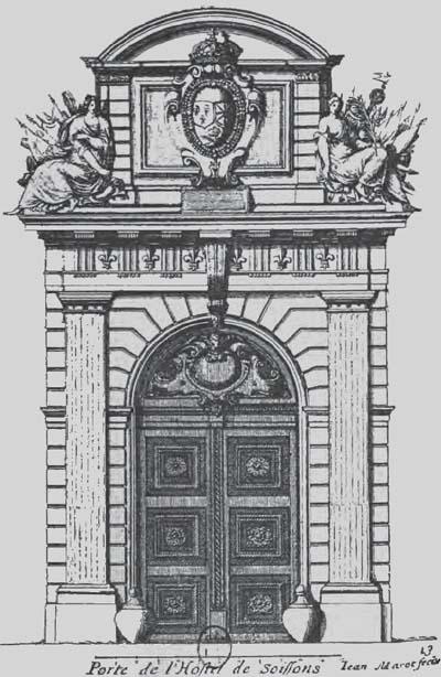L'hôtel de Soissons - Le portail dessiné par Salomon de Brosses