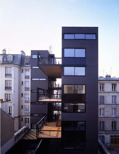 Logements pour postiers, rue de l'Ourcq
