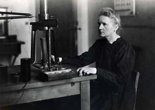 Marie Curie au travail