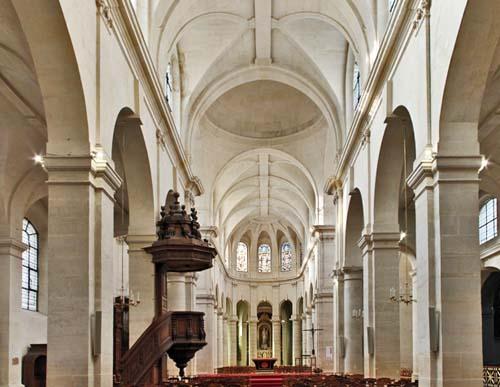 L'église Saint-Jacques du Haut-Pas - La nef et le chœur