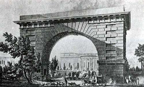 L'hôtel Thélusson - Le portail imitant un arc de triomphe