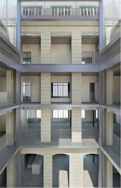 La fondation Galeries Lafayette - La cour intérieure