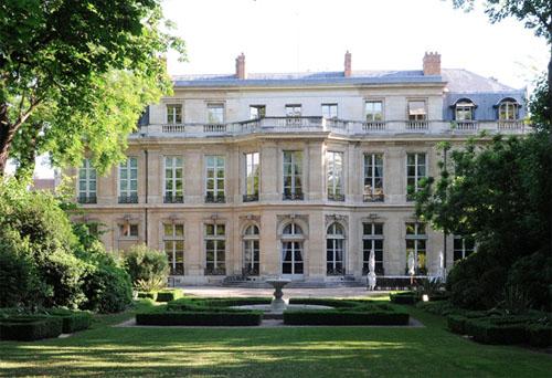 L'hôtel du Châtelet - Façade sur le jardin