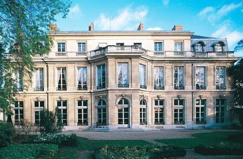 L'hôtel du Chatelet : la façade sur le jardin