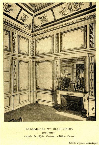 L'hôtel de Melle Duchesnois - Le boudoir