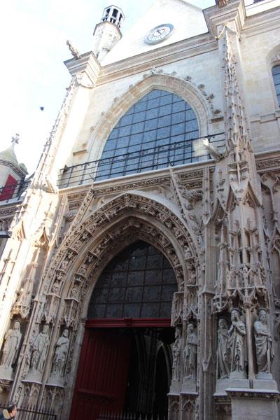 L'église Saint-Merri - Le portail