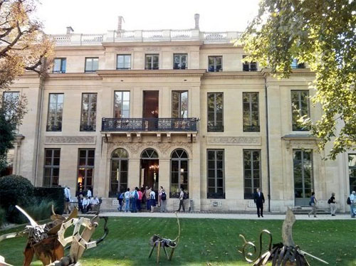 L'hôtel de Rochechouart - Façade sur le jardin