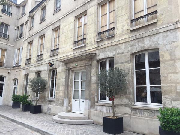 Le musée Maillol : la façade sur cour de l'hôtel Bouchardon