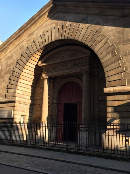 L'ancienne halle d'octroi devenue l'église de la Rédemption