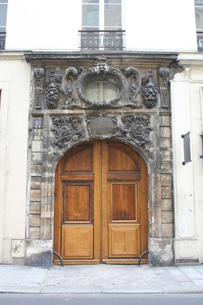 Le portail de l'hôtel de Chastillon