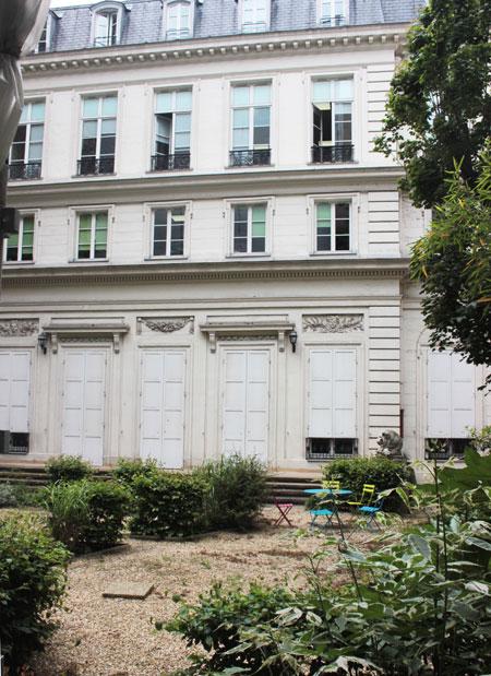 L'hôtel de Goys - Façade sur le jardin