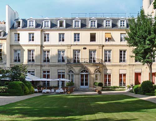 L'hôtel de Varengeville - Façade sur le jardin