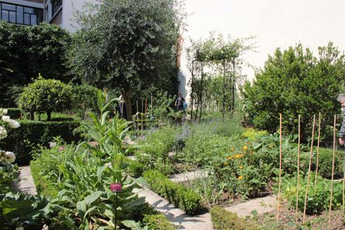 Le jardin médiéval du clos des Blancs-Manteaux