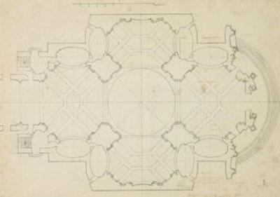 Plan de l'église des Théatins