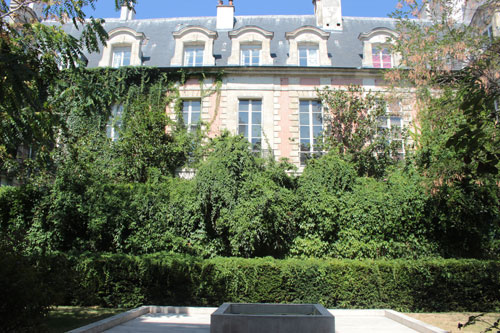 L'hôtel Mégret de Serilly - La façade sur jardin