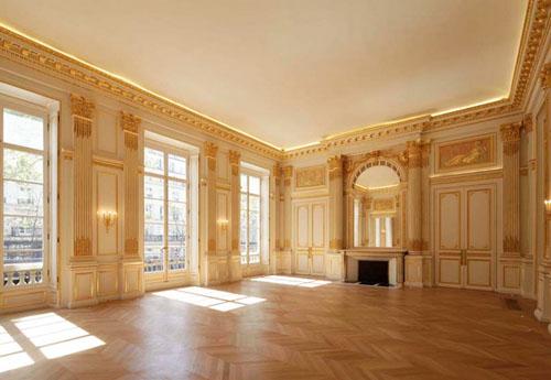 L'hôtel de Mercy-Argenteau - le salon de style Louis XVI