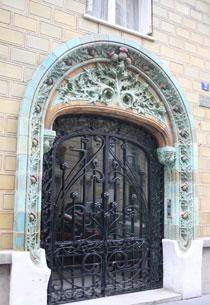 Immeuble de logements, rue Eugène Manuel - Porte d'entrée