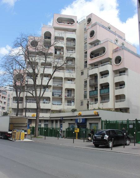 La cité des Eiders - Façade sur la rue de Crimée