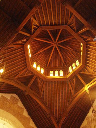La synagogue Chasseloup-Laubat - La charpente de la coupole