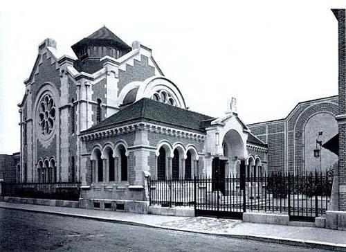 La synagogue Chasseloup-Laubat peu après sa construction