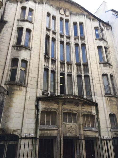 La synagogue de la rue Pavée