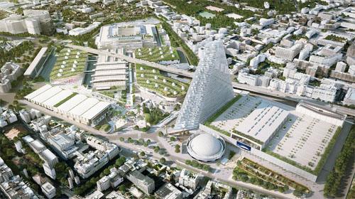 La tour Triangle sera élevée à proximité du Parc des Expositions
