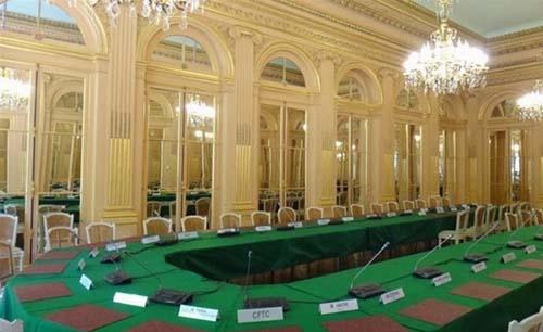L'hôtel de Rothelin-Charolais - La salle de réunion