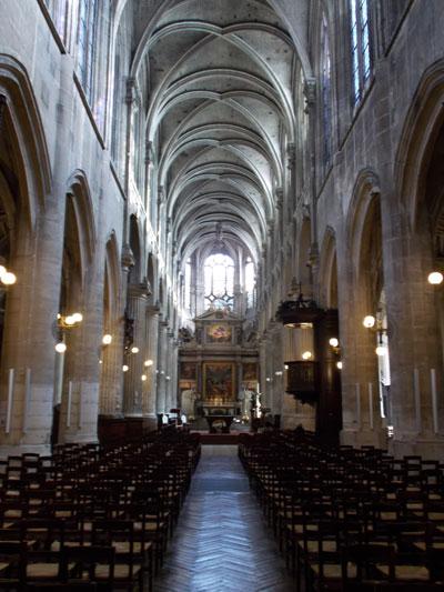 L'église Saint-Nicolas des Champs - La nef gothique